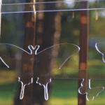 Butterfly shaped clear burglar bars