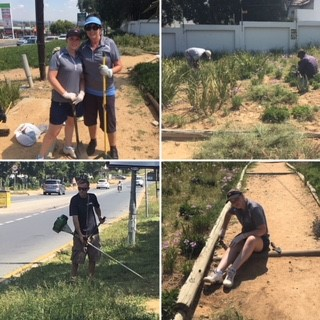 Community clean up in Johannesburg North